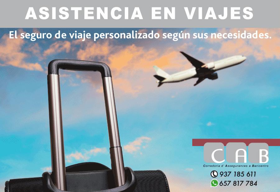 Asistencia en Viajes. CAB Corredoria Seguros Baricentro