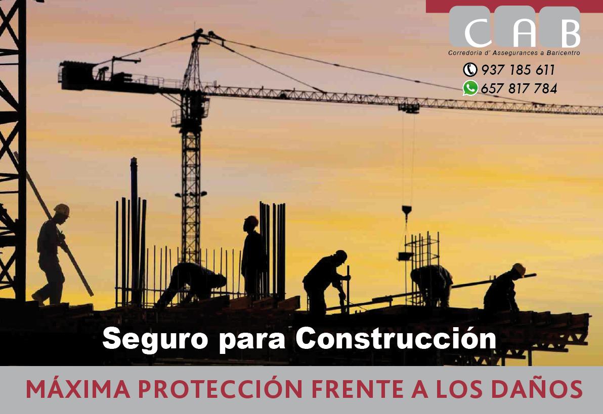 Seguro para Construcción - CAB Corredoria Seguros Baricentro