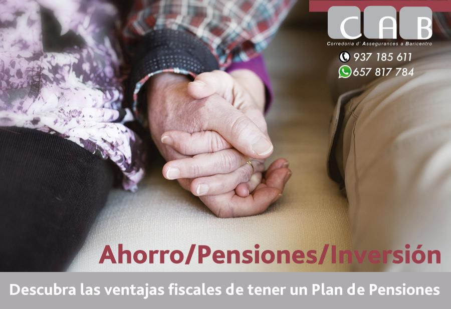 Ahorro/Pensiones/Inversión. CABCorredoria Seguros Baricentro
