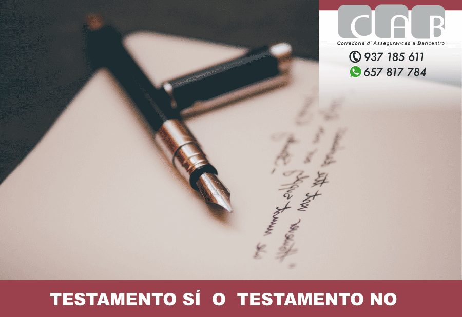 Testamento SÍ o testamento NO - CAB Correduría Seguros Baricentro - Photo by Álvaro Serrano on Unsplash