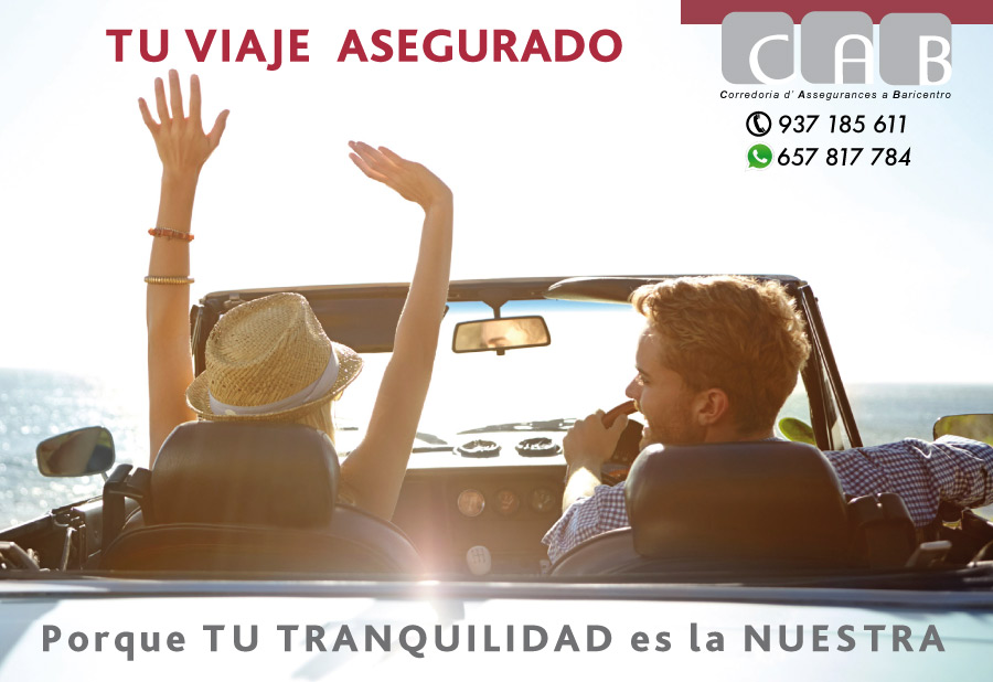 VIAJE asegurado - CAB Corredoria Seguros Baricentro