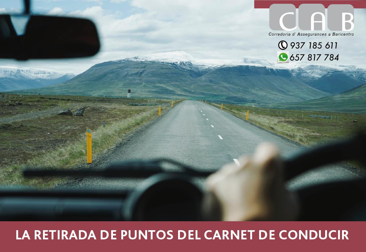 La retirada del puntos del carnét de conducir - CAB Correduría Seguros Baricentro - Photo by Oscar Nilsson on Unsplash