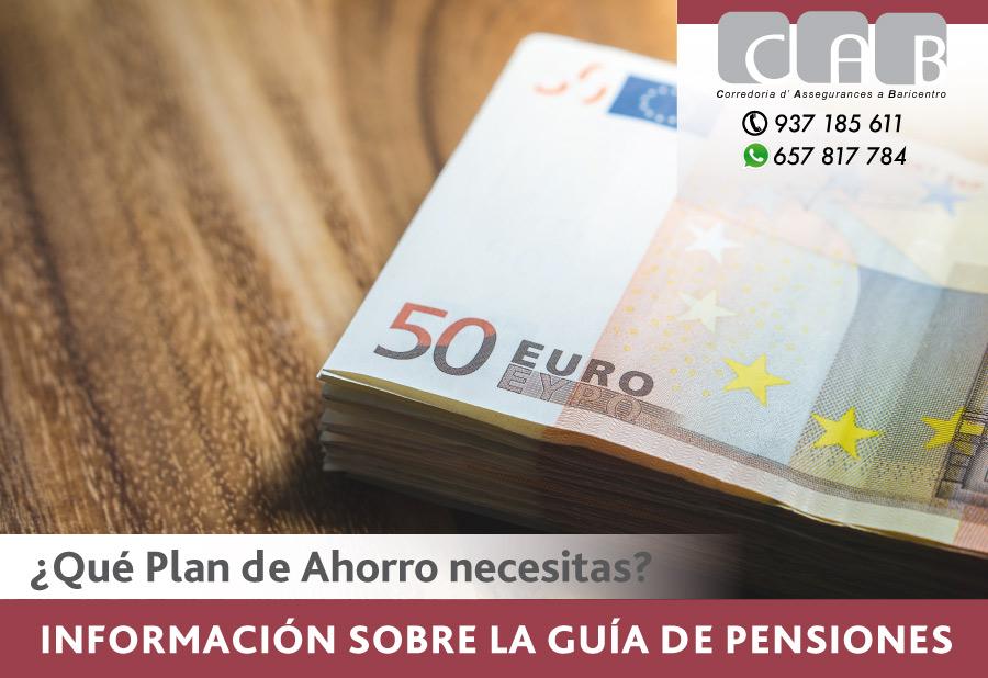 Información sobre la Guía de Pensiones - CAB Correduría Seguros Baricentro