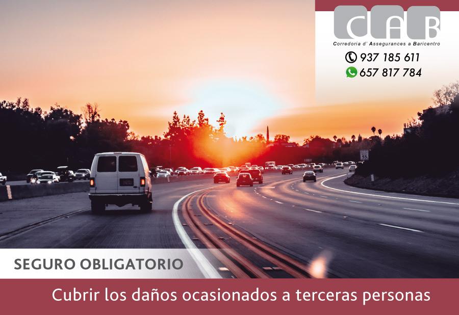 Tener un vehículo a motor circules o no, obliga a tener un seguro obligatorio que cubra los daños ocasionados a terceras personas - CAB Correduría Seguros Baricentro