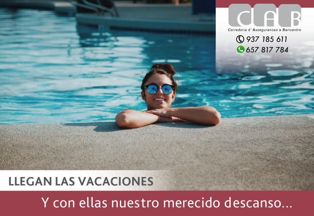 Llegan las vacaciones - CAB Correduria Seguros Baricentro