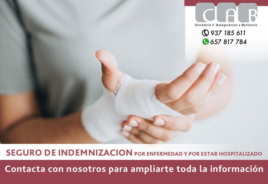 Seguro Indemnización por enfermedad y hospitalización - CAB Correduría Seguros Baricentro