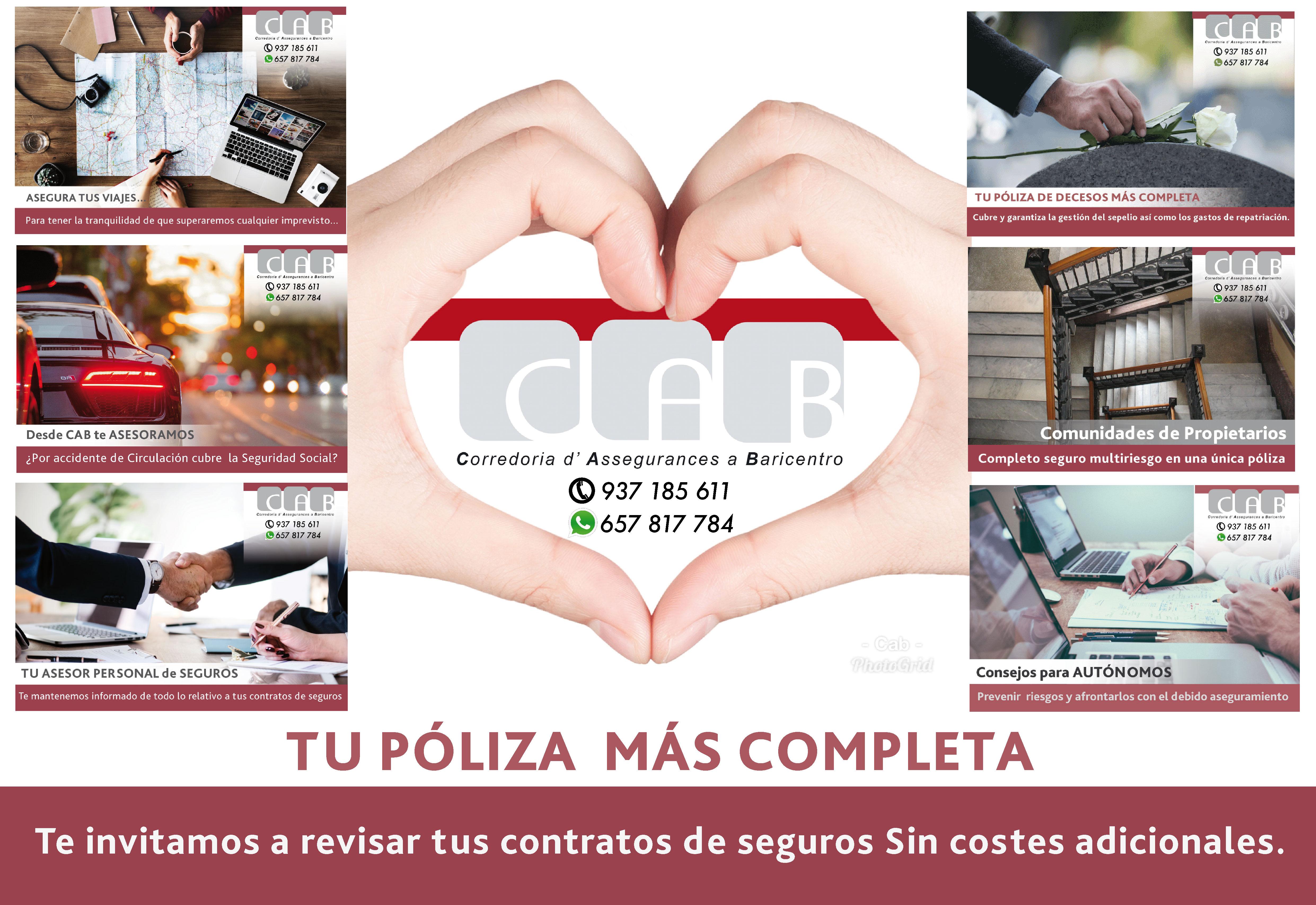 Con CAB tu póliza más completa - CAB Correduría Seguros Baricentro