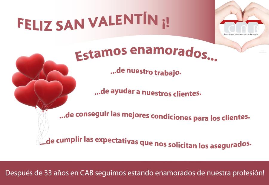Desde nuestra Correduría de Seguros en Baricentro os deseamos Feliz San Valentín ¡!