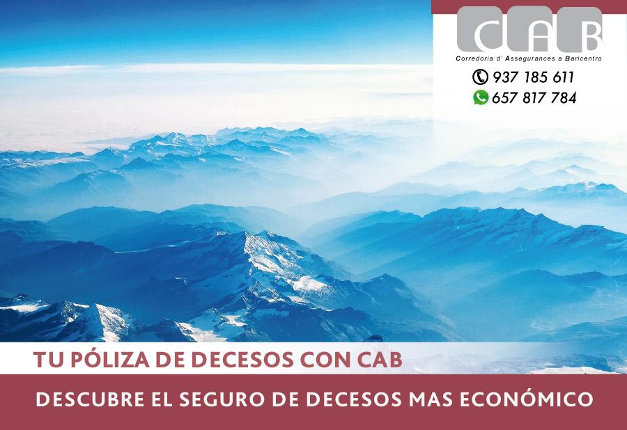Tu seguro de decesos más económico con CAB Correduria Seguros Baricentro