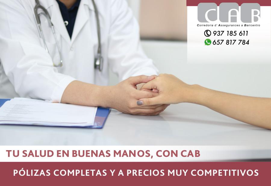 Tu Salud en buenas manos con CAB Correduría Seguros Baricentro